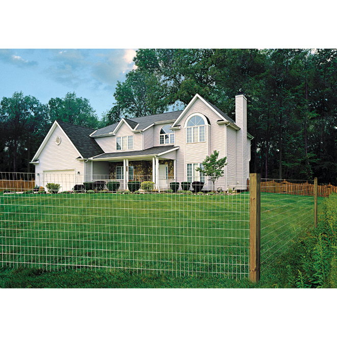 "Welded-Wire Fence - 14 GA - Zinc Coated - 2""x4"" - 60""x100'"