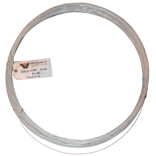 Fil marchand, cal. 12, galvanisé, bobine 10 lb, 336'