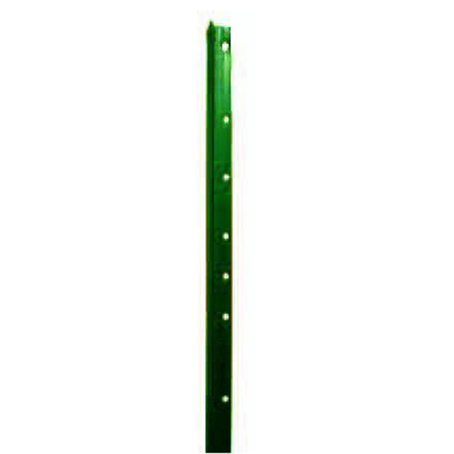 Steel T-Post - Punched - Smooth - Green Enamel - 6'