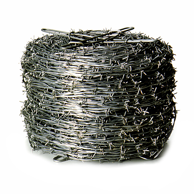 Barbed Wire - 2 Strand - 12 3/4 GA - Galvanized - 1320\' | RONA