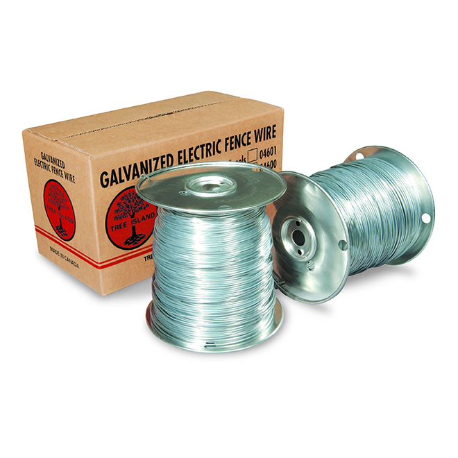 Fil électrique galvanisé pour clôture, calibre 17, 800 m