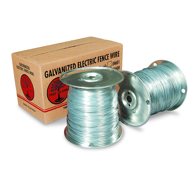 Galvanized Electric Fence Wire - 14 Gauge - 400m | RONA