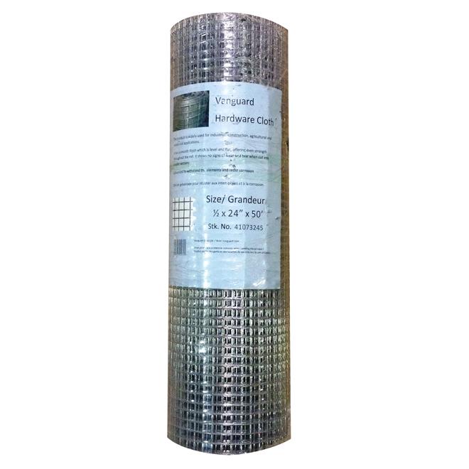 "Hardware Cloth - 19 GA - Galvanized - 1/2"" x 36"" x 50'"