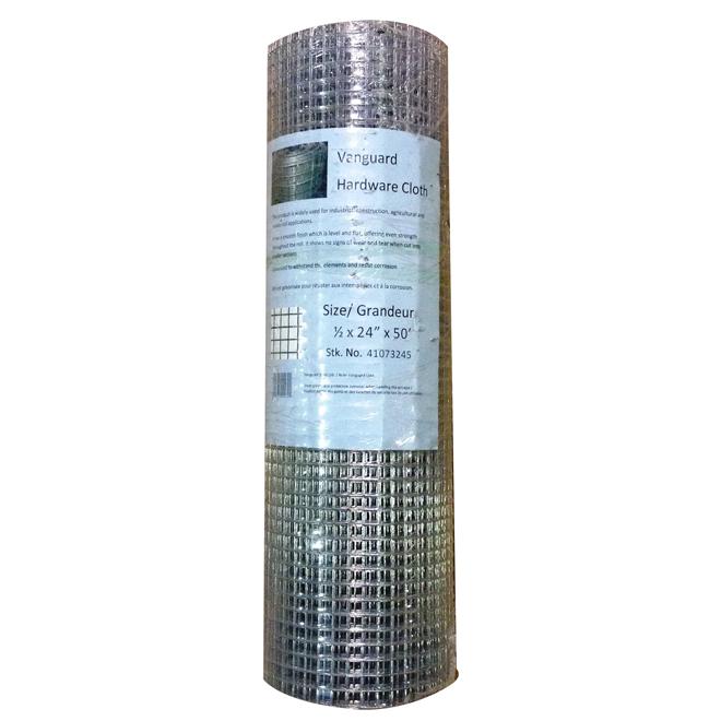 """Grillage métallique, calibre 23, galvanisé, 1/4"""" x 36"""" x 50'"""