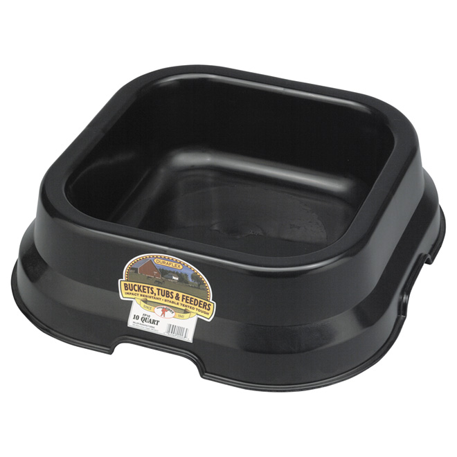 Feed Pan - Plastic - 2.5 Gallons - Black