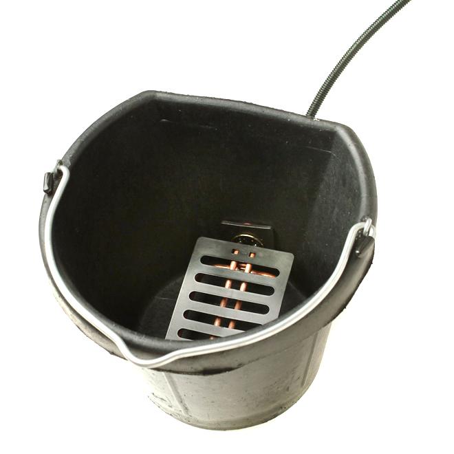 Seau chauffant en caoutchouc, dos plat, 5 gallons, 150 W