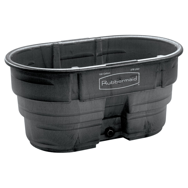 "Stock Tank - 100 Gallons - 25"" x 31"" x 52"" - Black"