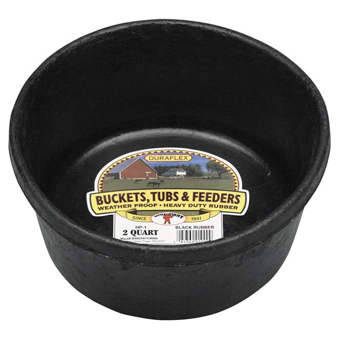 Feeder Pan - Rubber - 1/2 Gallon - Black