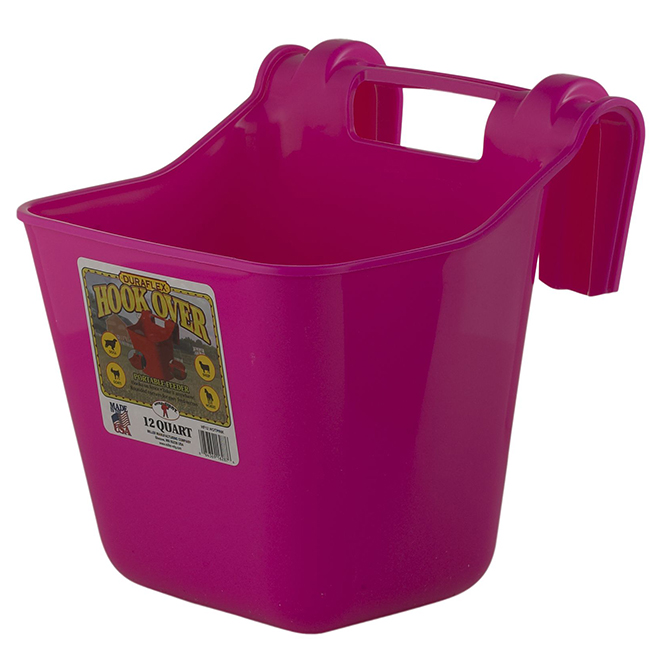 Mangeoire accrochable, 3 gallons, rose vif