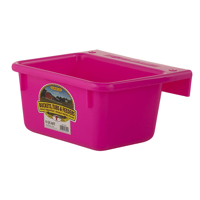 Mini Hook-Over Feeder - Plastic - 1.5 Gallons - Hot Pink