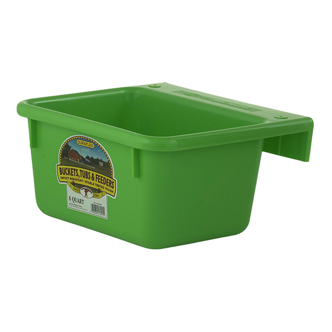 Mini Hook-Over Feeder - Plastic - 1.5 Gallons - Lime Green