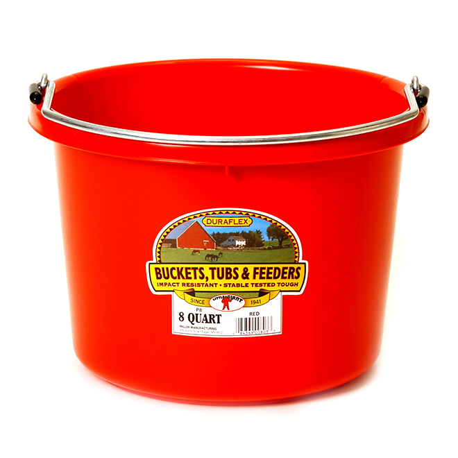 Bucket - Plastic - 2 Gallons - Red