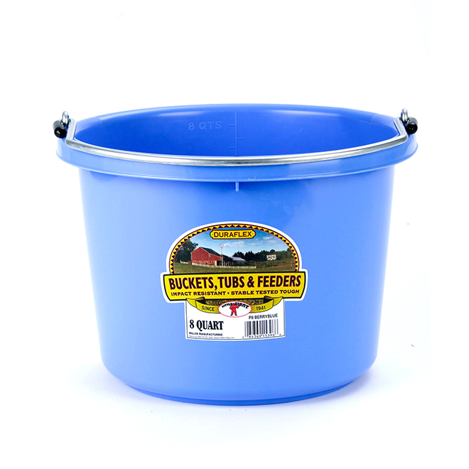 Bucket - Plastic - 2 Gallons - Berry Blue