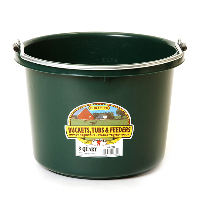 Bucket - Plastic - 2 Gallons - Green