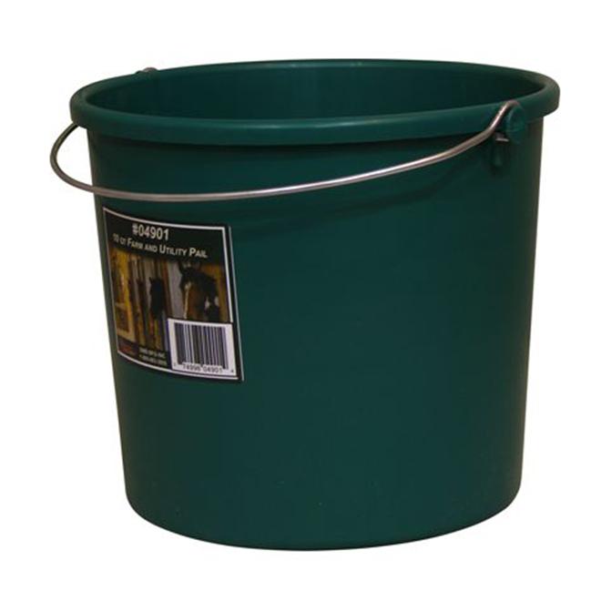 Seau tout usage, plastique, 9,46 L, vert
