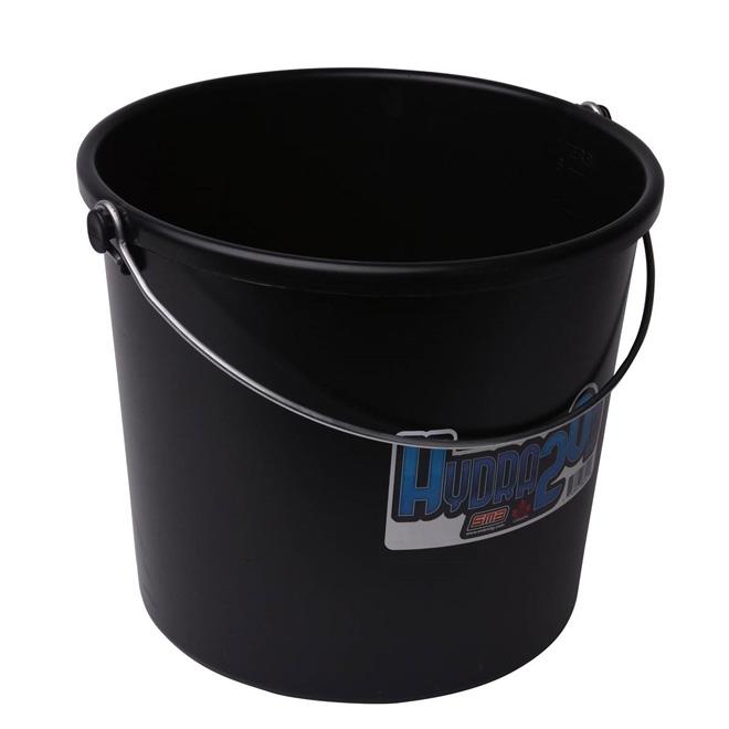Seau tout usage, plastique, 9,46 L, noir
