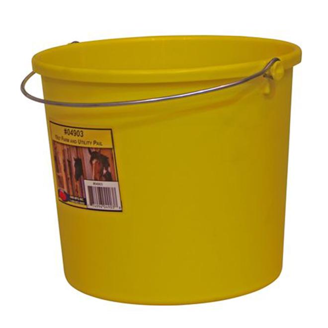 Seau tout usage, plastique, 9,46 L, jaune