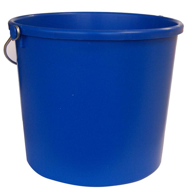 Seau tout usage, plastique, 9,46 L, bleu