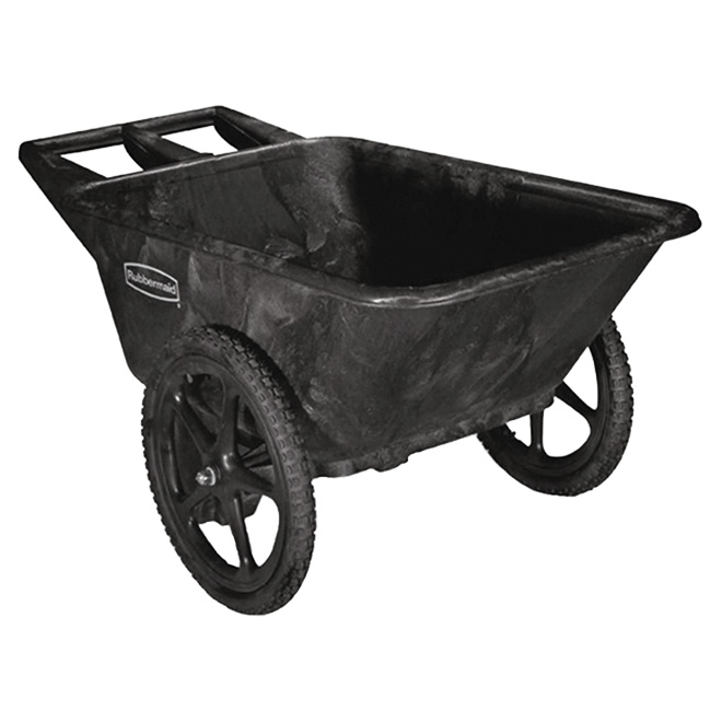 Yard Cart - Big Wheel - 7.5 cu. ft. Capacity - Black