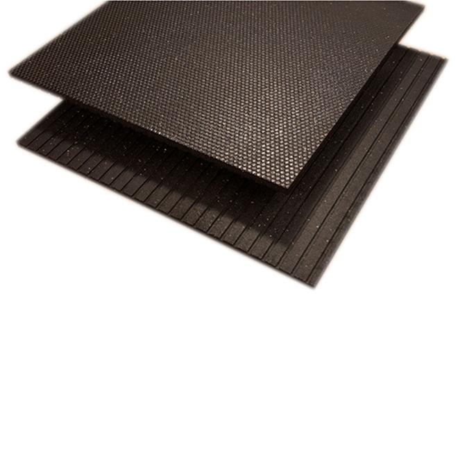 "Rubber Mat - Beehive Design -1/2"" x 4' x 6' - Black"