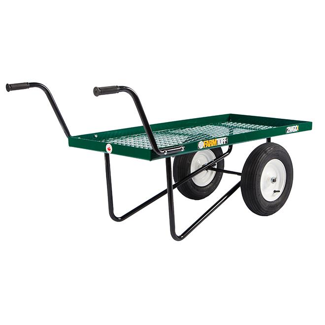"Push Cart Wagon - 2 Wheels - 300 lbs Capacity - 24"" x 48"""