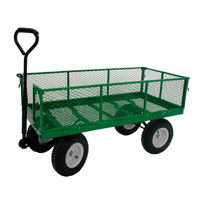 "Folding-Side Wagon - 4 Wheels - 800 lbs Capacity - 24"" x 48"""