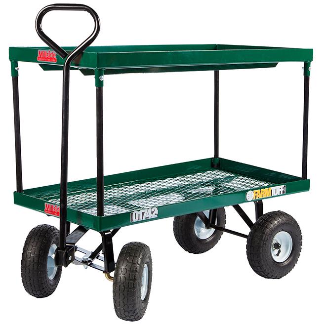 "Double-Tier Wagon - 4 Wheels - 600 lbs Capacity - 20"" x 38"""