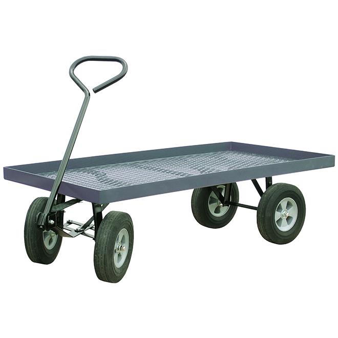 "Metal Wagon - Flat-Free Wheels - 800 lbs Capacity - 24""x48"""