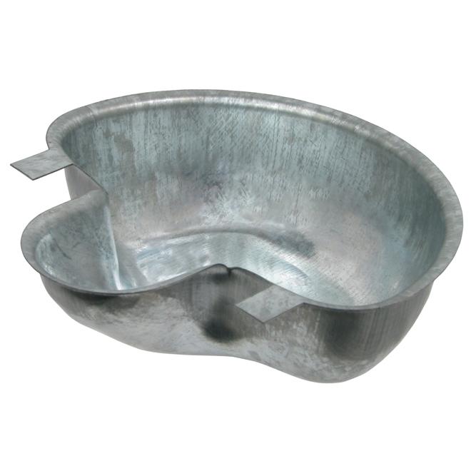 Bol à eau pour lapin, acier galvanisé, rebord lisse