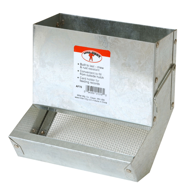 """Rabbit Feeder with Sifter Bottom - 5 1/2"""" x 7 1/8"""" x 7 1/8"""""""
