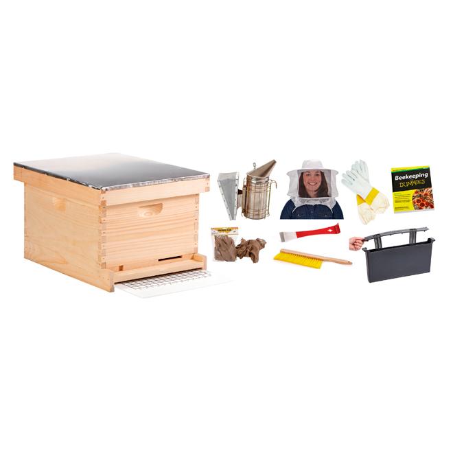 Trousse pour apiculteur débutant, 10 cadres, 9 pièces