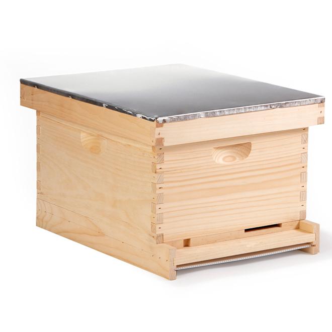 "10-Frame Beehive - Pine - 9 1/2"" Body - 9 1/8"" Frames"