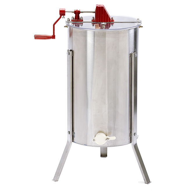 Double-Frame Honey Extractor - Stainless Steel - Hand Crank