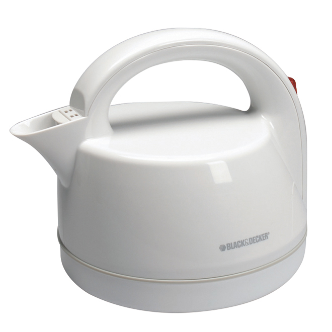 Dome Kettle with Filter - White - 2L