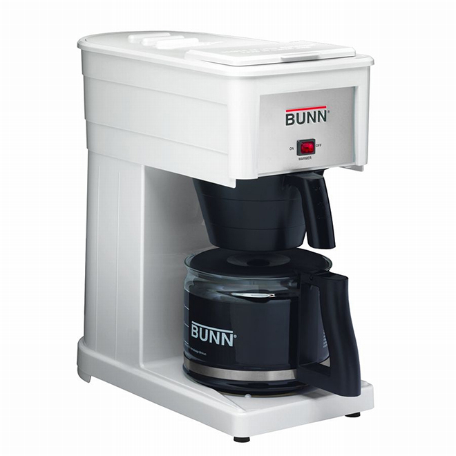 Bunn-O-Matic Coffee Maker - White - 10 Cups