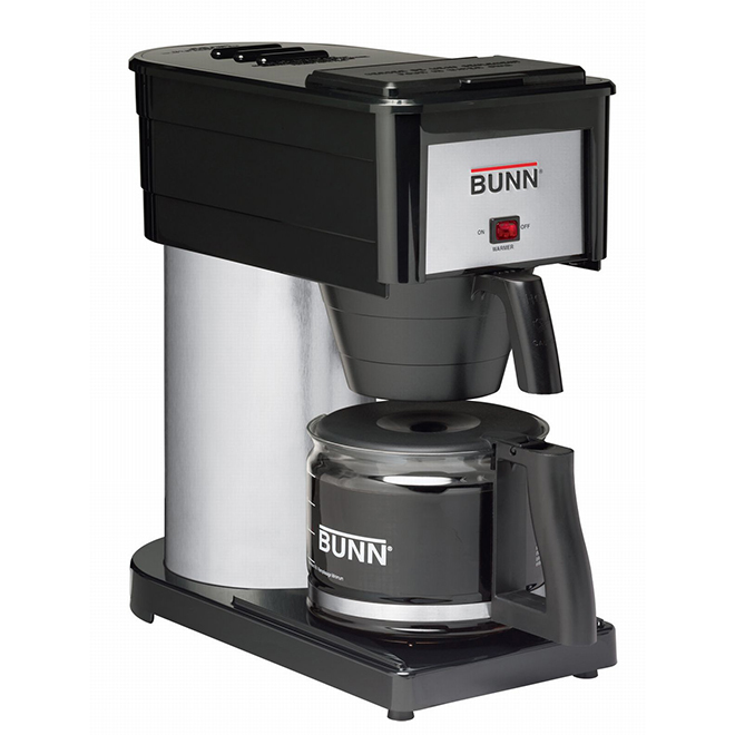 Bunn-O-Matic Coffee Maker - Stainless Steel - 10 Cups