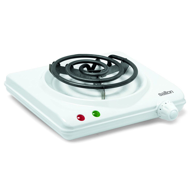 Portable Cooking Range with Single Burner - White