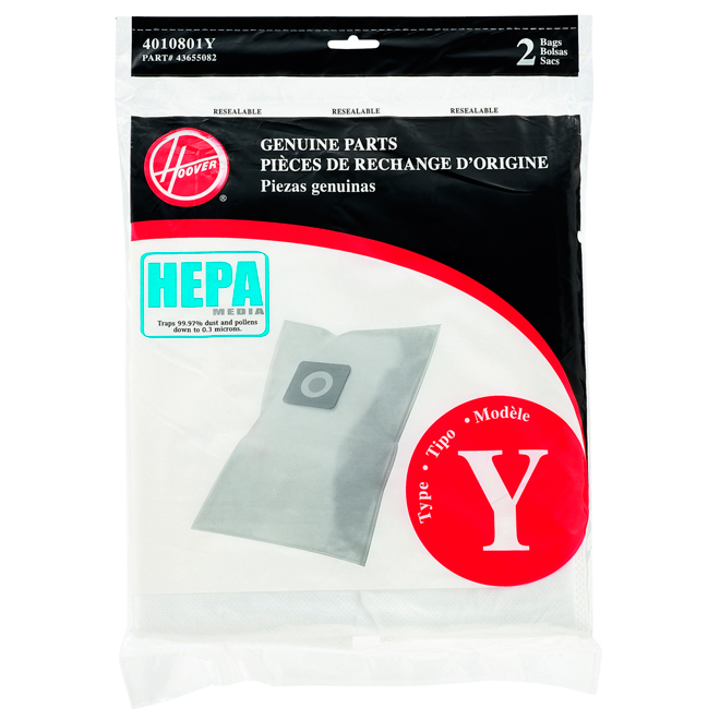 Type Y Vacuum Bag - Pack of 2