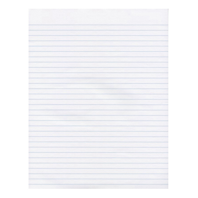 "Ruled Paper Pad - 8 1/2"" x 11"" - 96 Sheets"