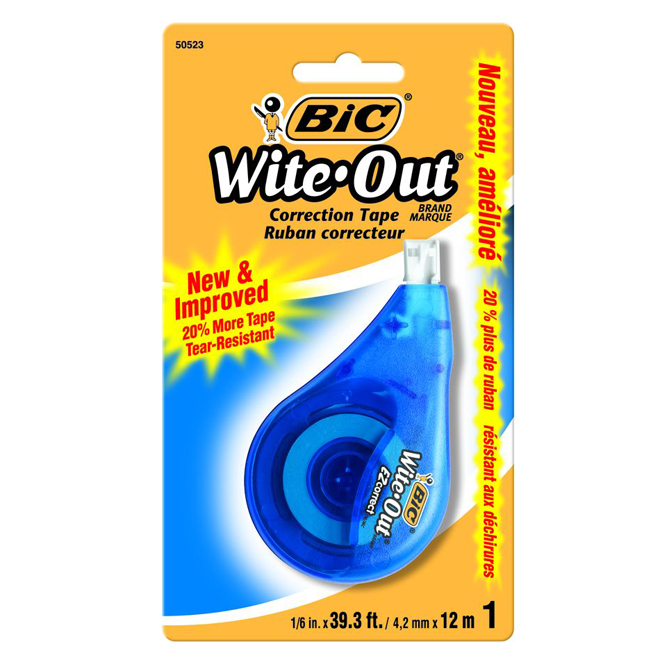 "Wite-Out Correction Tape - 1/6"" x 39'"