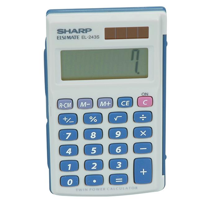 Handheld Dual-Powered Calculator - 8 Digit