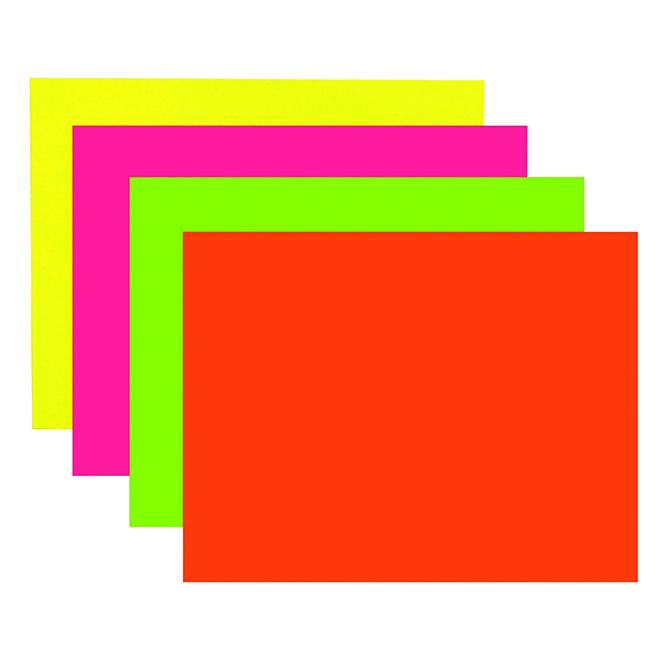 """Carton fluorescent pour affiche, 22"""" x 28"""""""