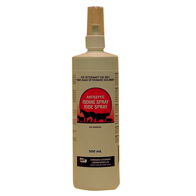 Vaporisateur antiseptique à l'iode, 500 ml