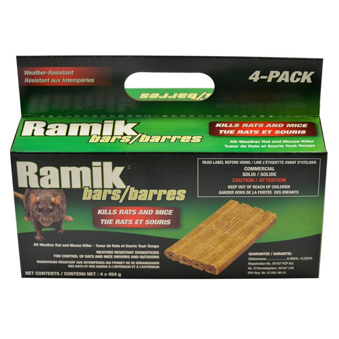 Rodenticide Ramik Green, 453 g, 4 barres