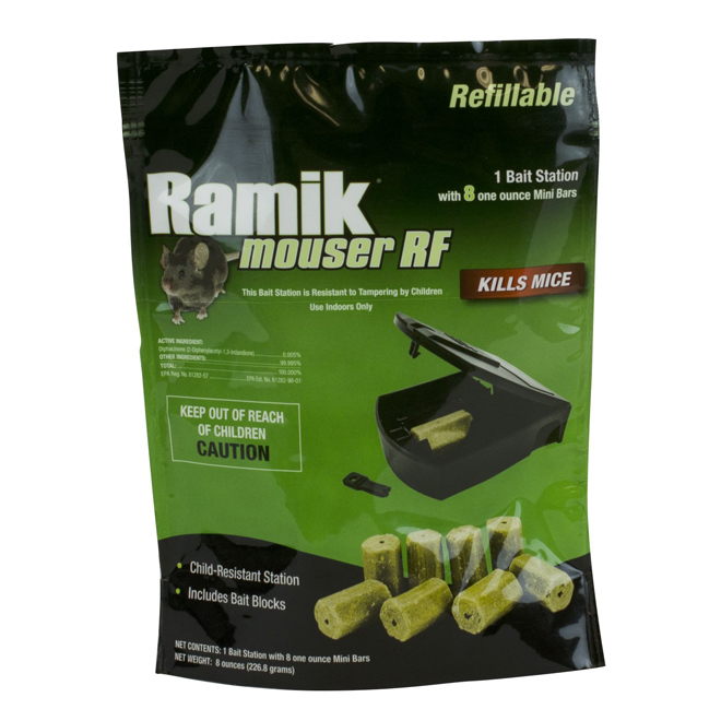 Rodent Trap - Ramik Mouser RF with 8 Bait Blocks