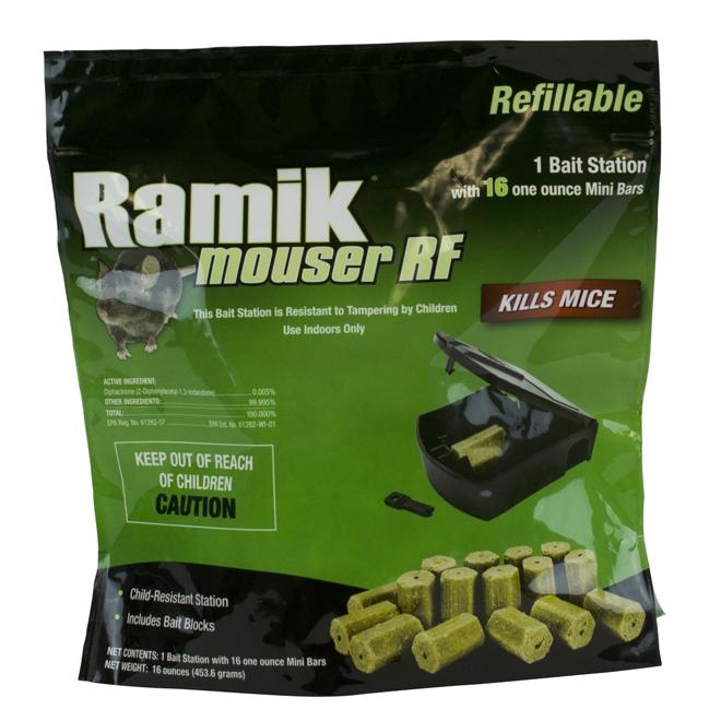Piège à rongeur Mouser RF Ramik avec 16 blocs d'appâts
