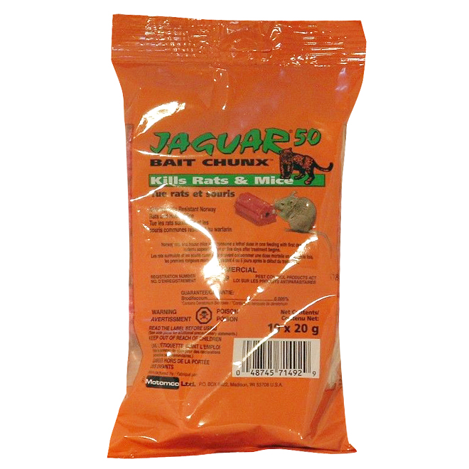 Rodenticide - Jaguar Place - 20 g - 10-Pack