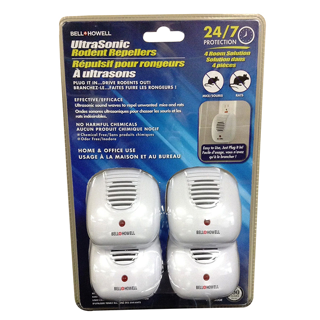Ultrasonic Rodent Repeller - 4 Pack