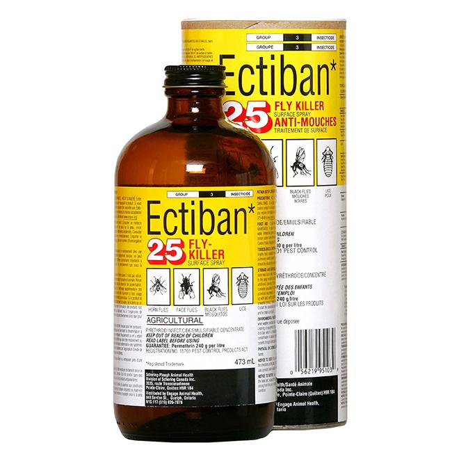 Insecticide en pulvérisateur Ectiban 25EC Fly Killer, 473 ml