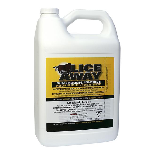 Insecticide liquide contre les poux Lice Away, 4 l